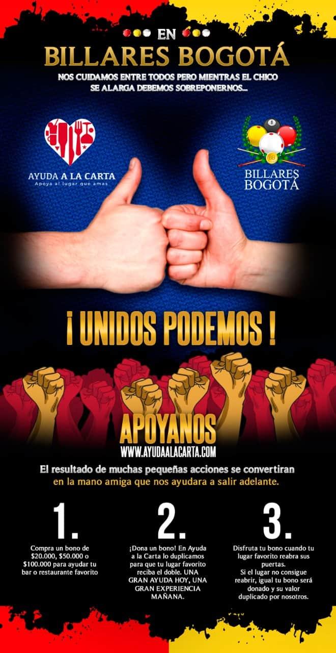 ¡Unidos podemos! Ayuda a Billares Bogotá